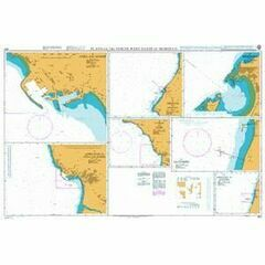 863 Plans on the North West Coast of Morocco Admiralty Chart