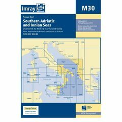 Imray Chart M30 Southern Adriatic and Ionian Seas