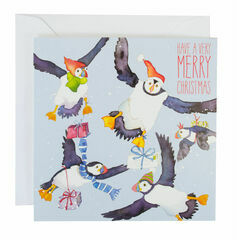 Merry Christmas Puffins Cards (pack of 6)