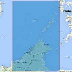 3483 Mindoro Strait to Luconia Shoals including Selat Makasar Admiralty Chart