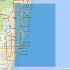 3699 Approaches to Port Everglades and Miami Admiralty Chart