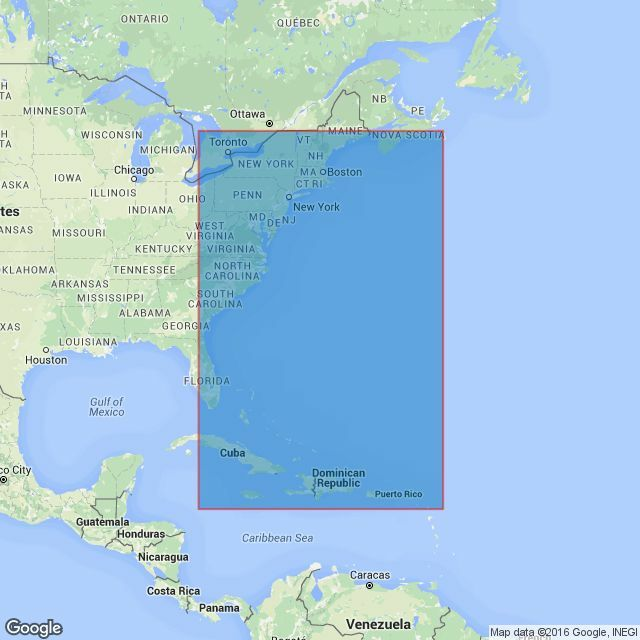 4403 Southeast Coast of North America including the Bahamas and