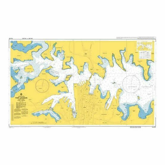 AUS202 Port Jackson (Central sheet)  Sydney Harbour Admiralty Chart