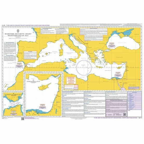 Q6110 Maritime Admiralty Security Chart, Mediterranean Sea