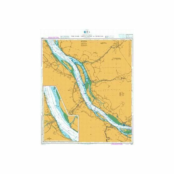 3267 The Elbe, Krautsand to Schulau Admiralty Chart