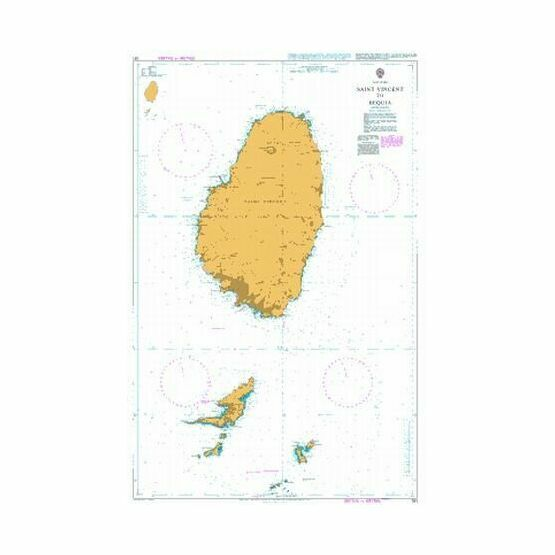 791 Saint Vincent to Bequia Admiralty Chart