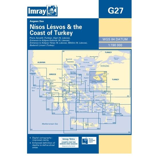 Imray Chart G27 Nisos Lesvos & the Coast of Turkey